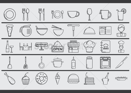 Open : Restaurant icons