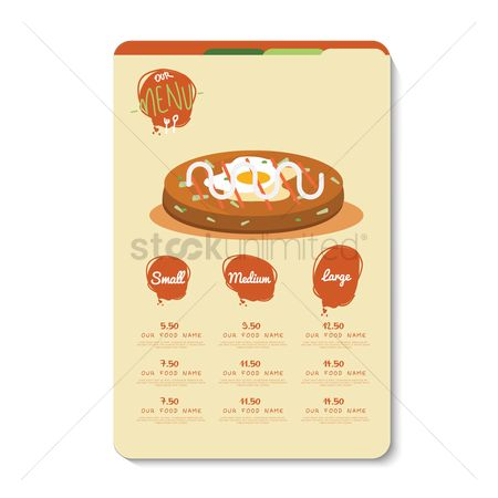 Doughnut : Restaurant menu card design