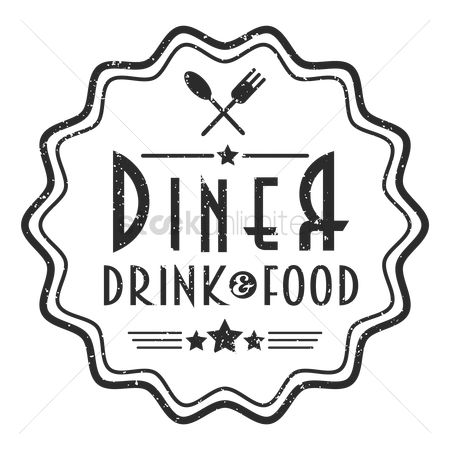 Dine : Restaurant stamp design