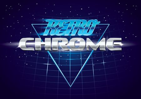 Pub : Retro chrome design