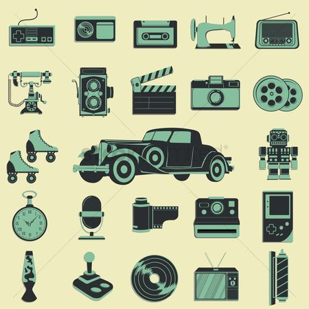 Transport : Retro icons