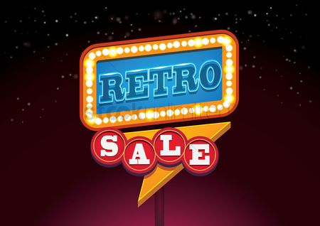Shopping : Retro sale signboard