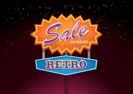 Illumination : Retro sale signboard