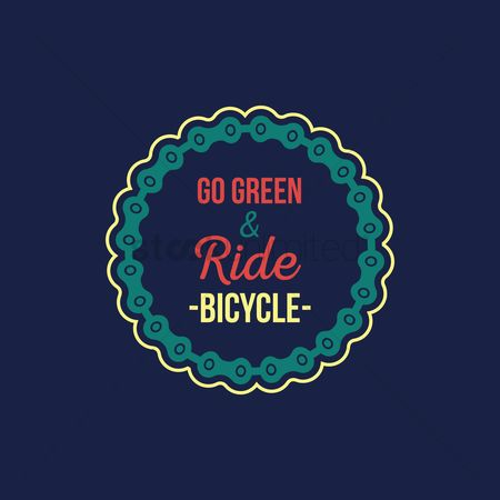 Cycle : Ride bicycle label