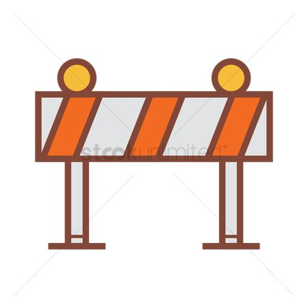 Beware : Road barricade