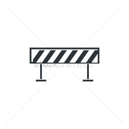 Barrier : Road blocked sign