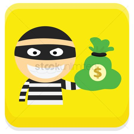 Sack : Robber with money bag