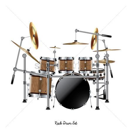 Drums : Rock drum set