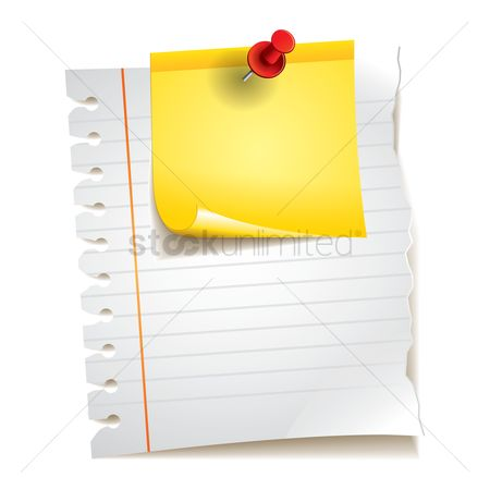 Supply : Ruled paper and sticky note