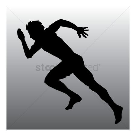Athletes : Runner in action