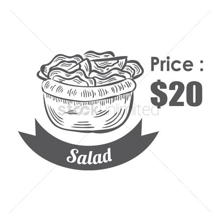 Greens : Salad menu title with price