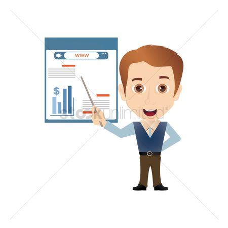 Smart : Salesman with chart