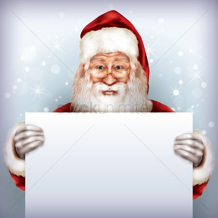 Wallpaper : Santa holding placard