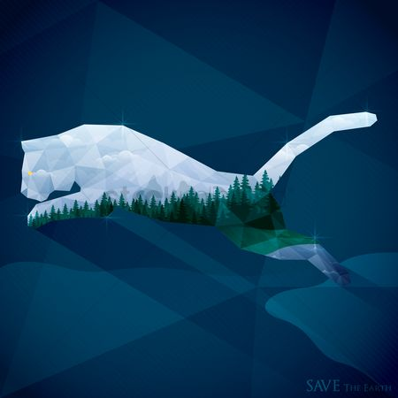 Double exposure : Save the earth wallpaper