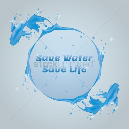 Marine life : Save water background