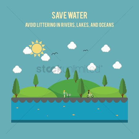 Save trees : Save water concept