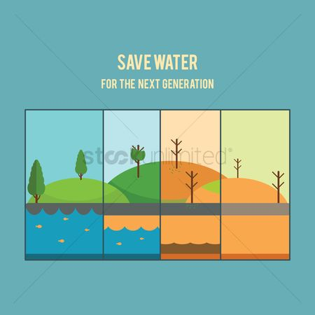 Water drops : Save water concept