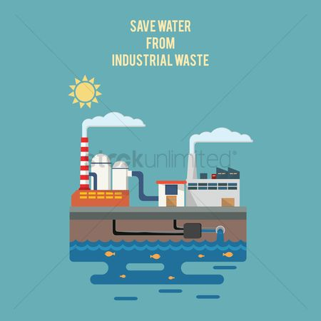 Pollution : Save water from industrial waste