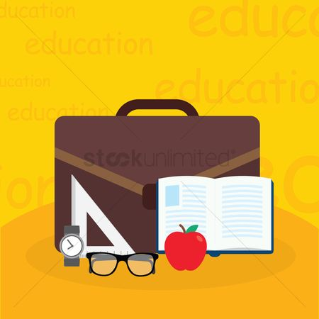 School bag : School bag and educational items