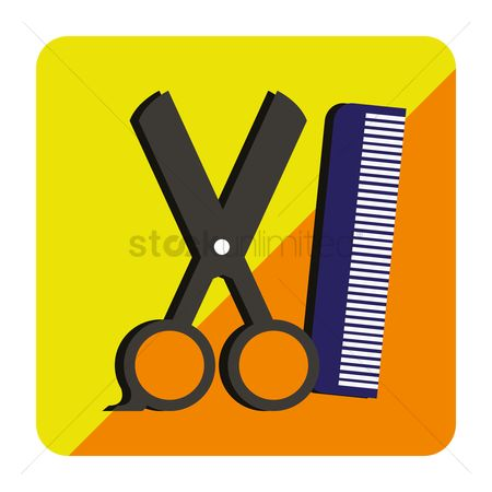 Shearing : Scissors with comb