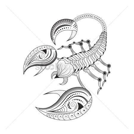 Horoscopes : Scorpio zodiac intricate design