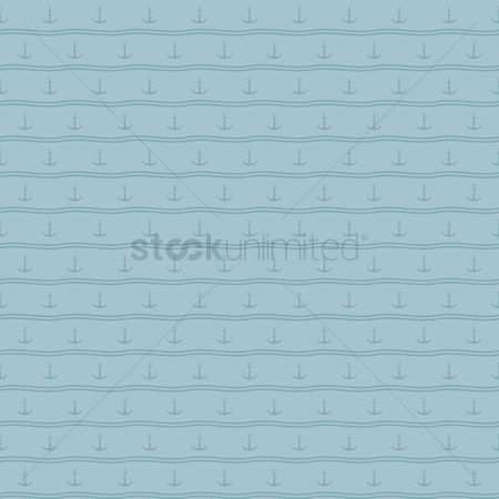 Nautical : Seamless anchor background