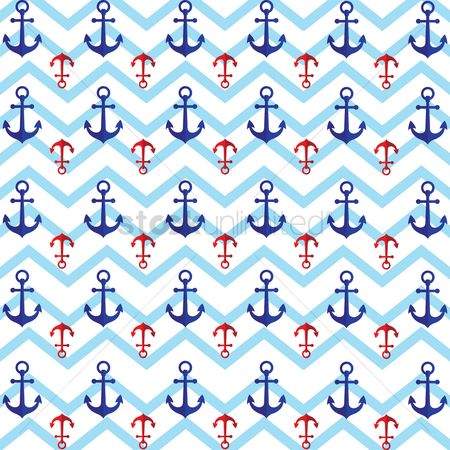 Nautical : Seamless anchor pattern