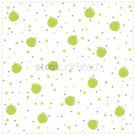 Background : Seamless background with green apples