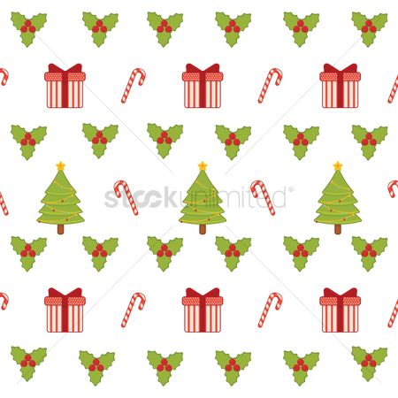 Boxes : Seamless christmas background