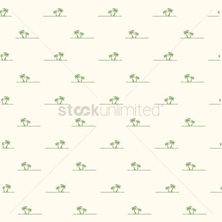 Nautical : Seamless palm trees background