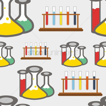 Racks : Seamless pattern of chemistry lab