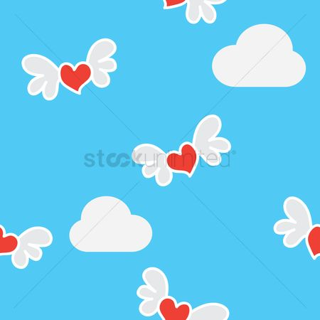 Romance : Seamless valentine pattern background