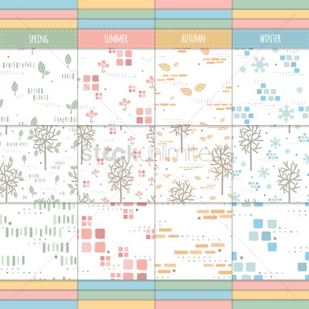 Spring : Seasonal seamless design collection