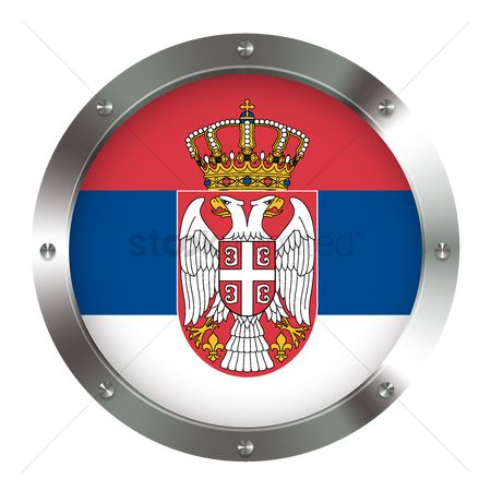 Tricolored : Serbia flag icon