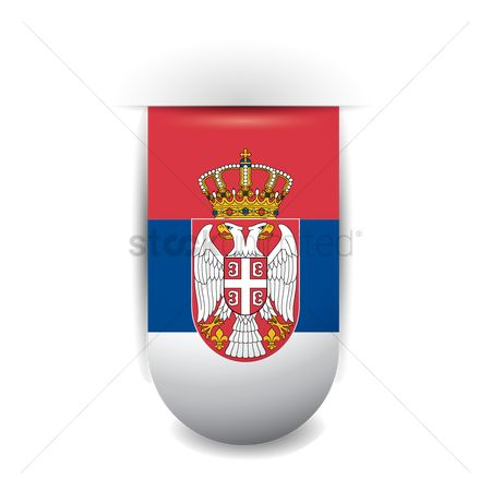 Tricolored : Serbia flag pennant