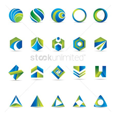 Collections : Set of abstract icons