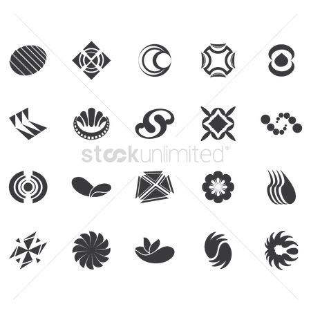 Logo : Set of abstract icons