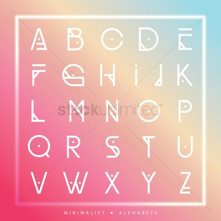 Fonts : Set of alphabet icons
