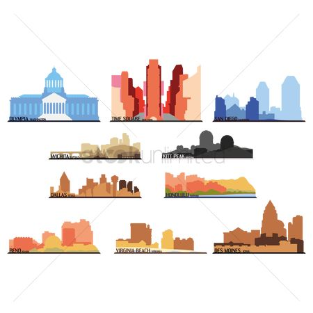 Kansas : Set of american state icons