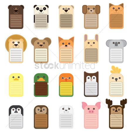 Owl : Set of animal notepads