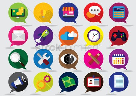 Spanner : Set of assorted icons