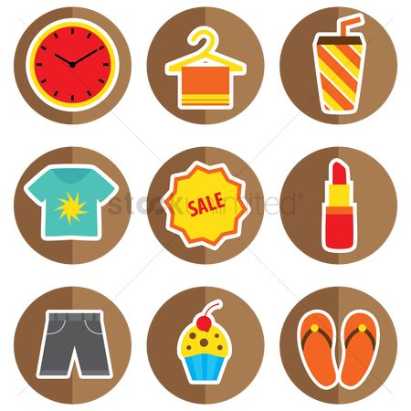 Slippers : Set of assorted icons
