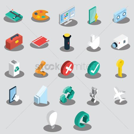 Audio book : Set of assorted web icons