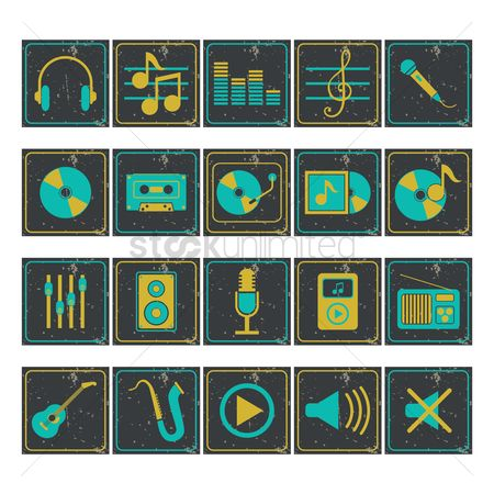 Trendy : Set of audio icons