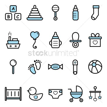 Blocks : Set of baby icons