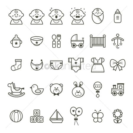 Teddybear : Set of baby icons