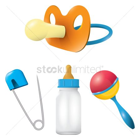 Needle : Set of baby items