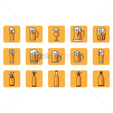 Beer : Set of beer ware