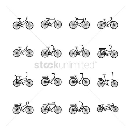Activities : Set of bicycle icons