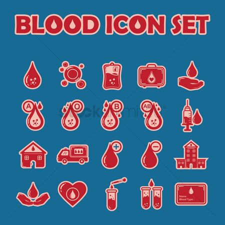 Cells : Set of blood icons